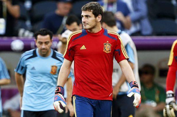 portero seleccion espanola futbol Iker Casillas viernes 22 junio durante entrenamiento equipo