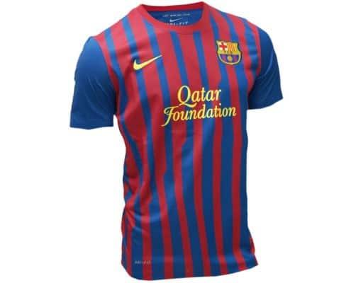 Las camisetas de futbol más vendidas en 2012