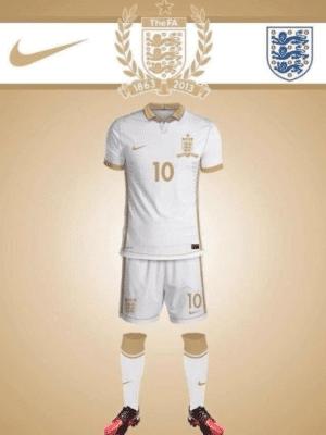 Nueva equipación de Inglaterra en blanco y oro Nike 2013