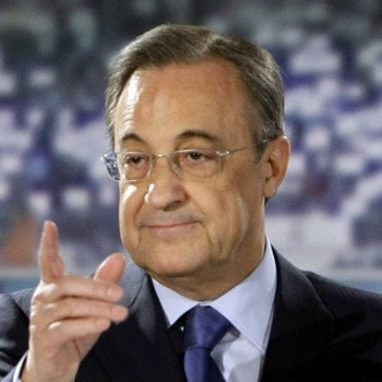 Perez gestures during a news conference in Madrid