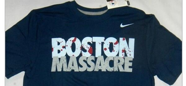 Nike retira la camiseta Boston Massacre (foto)