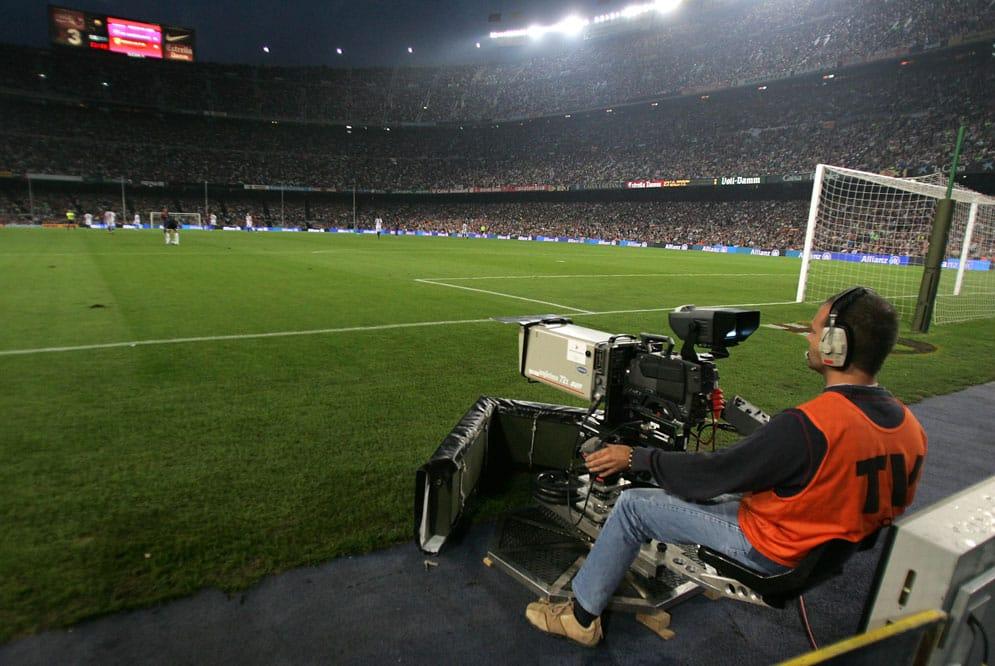 camara television partido futbol