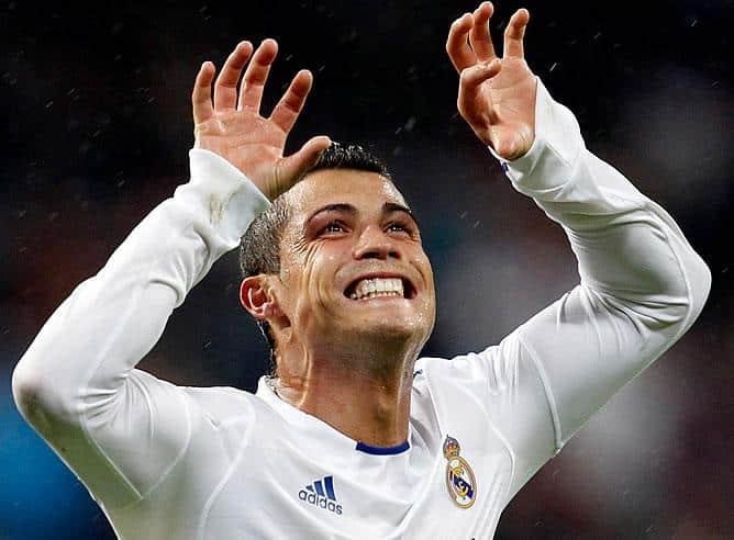 Cristiano Ronaldo celebra goles Deportivo