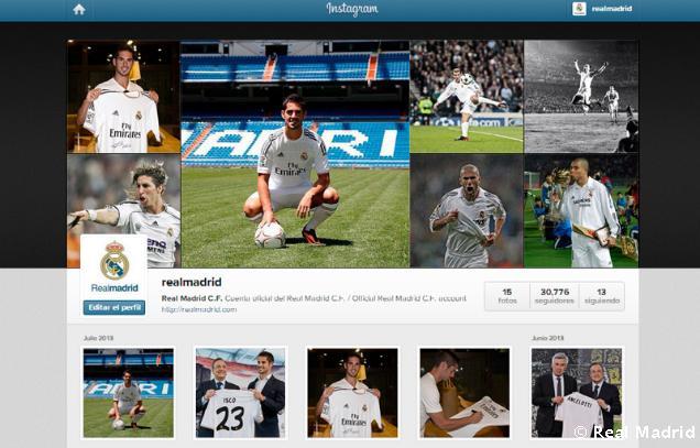 La expansión del Real Madrid llega a Instagram