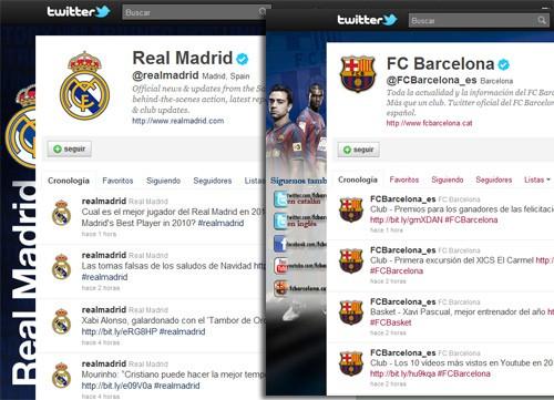 Barcelona y Real Madrid, también arrasan en Twitter