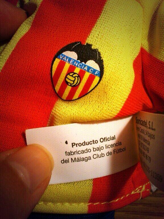 Fallo chino en el merchandising del Valencia CF