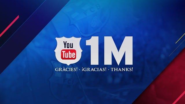FC Barcelona: Primer club en tener un millón de subsuscriptores en Youtube