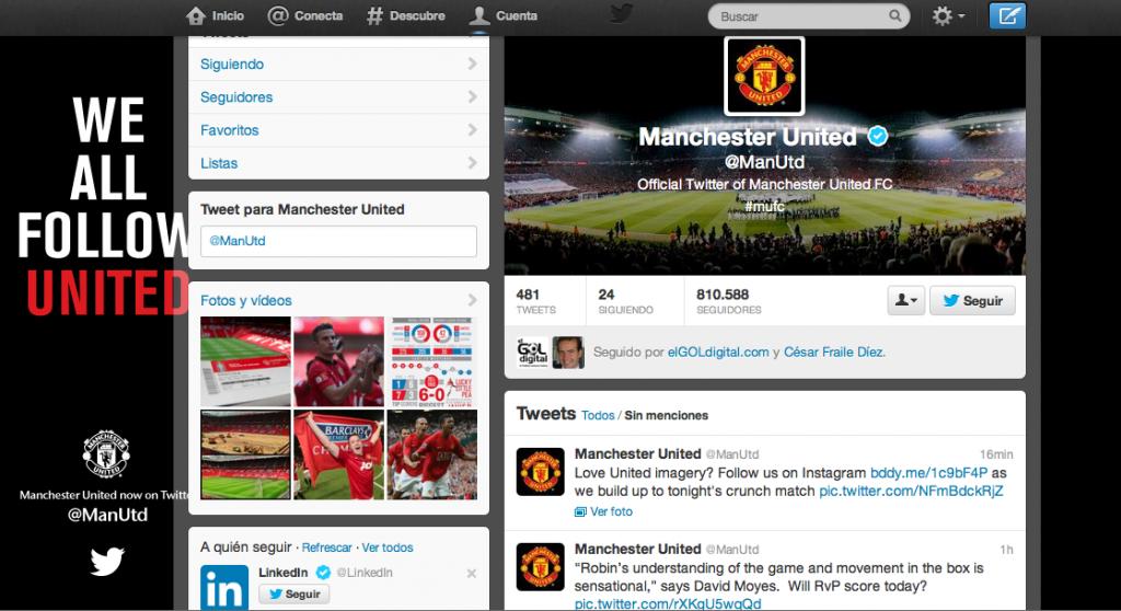 Manchester United: el mejor marketing llega a Twitter