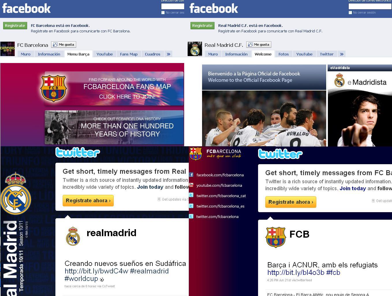 Comparativa de los seguidores de Real Madrid y Barcelona en Twitter
