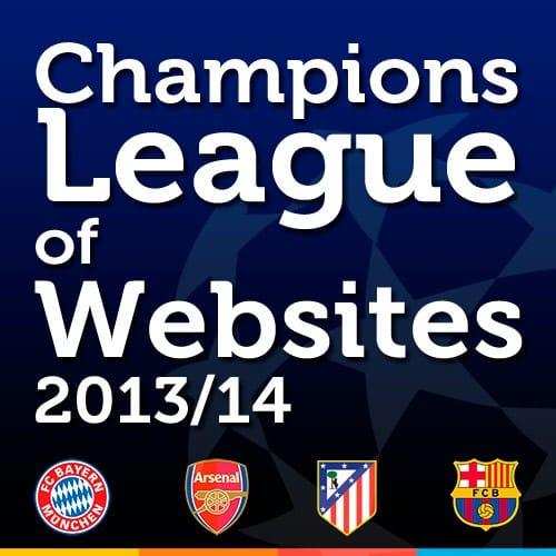 Ranking de mejores portales de los equipos de la Champions League
