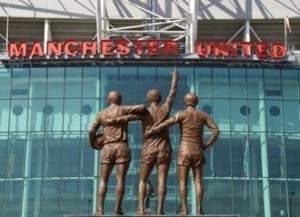 Manchester United Old Trafford football ground.
