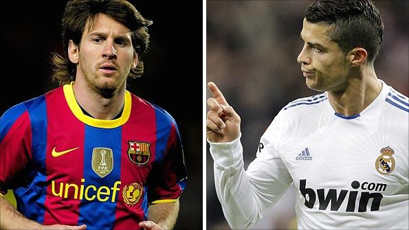Cristiano amenaza récord de goles de Messi en liga española