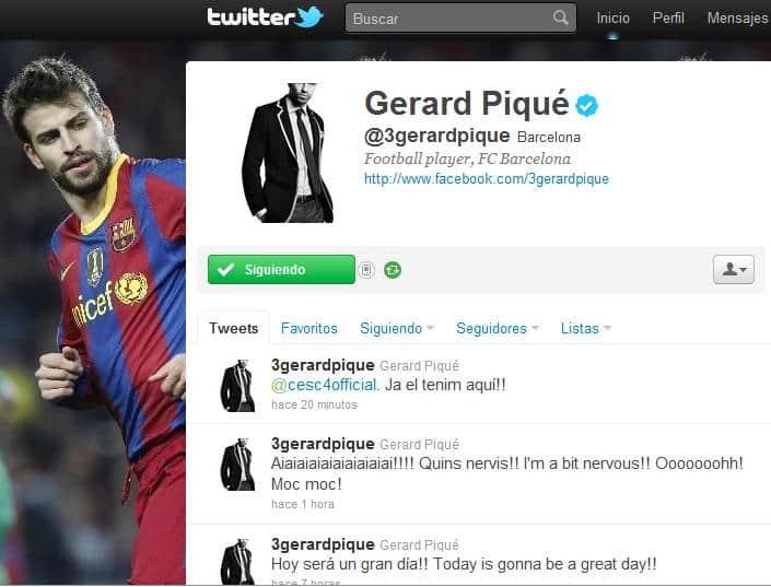 Twitter Piqué Cesc