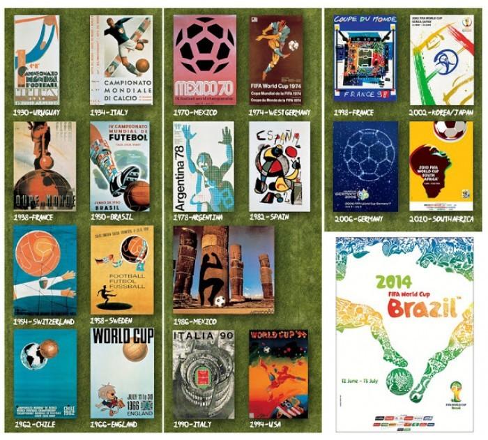 Carteles mundialistas, una expresión de la realidad del fútbol