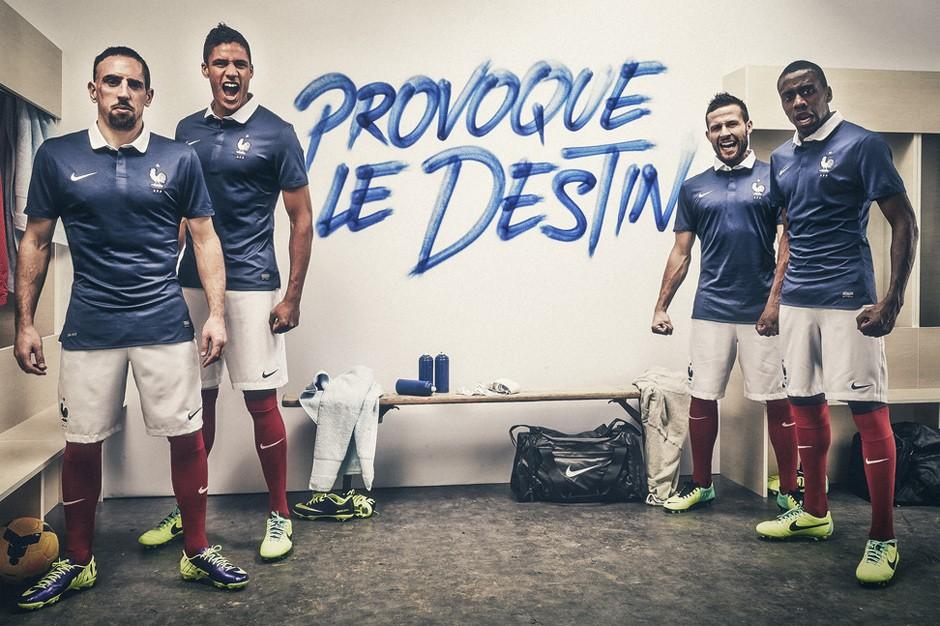 La selección de Francia reniega de las camisetas Nike para @elMundial