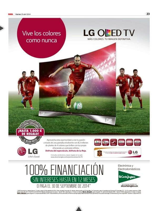 LG le mete un gol a Sony con Andrés Iniesta