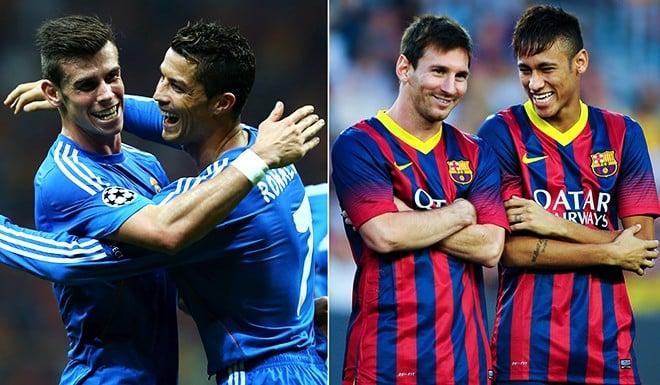 Los sueldos del Real Madrid y Barcelona durante 2013-14  Neymar