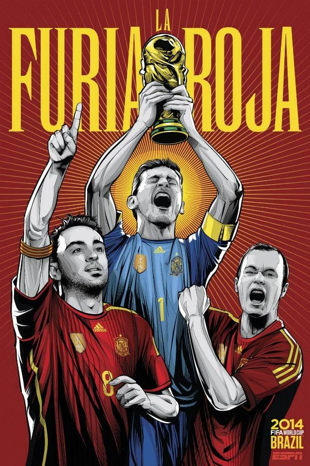 Los pósters de las selecciones de @elMundial