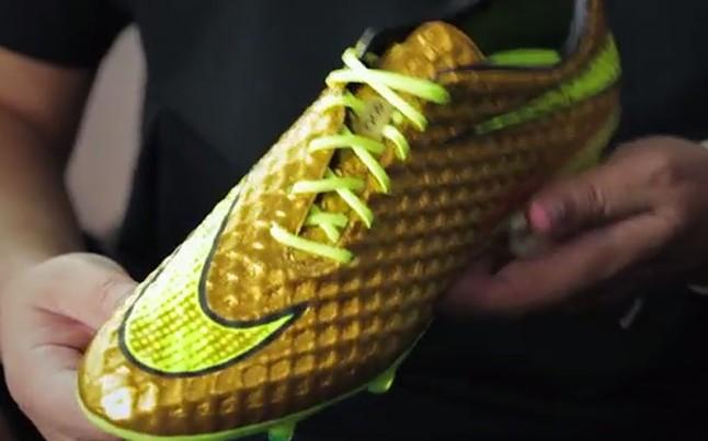 Las flamantes botas de oro de Neymar