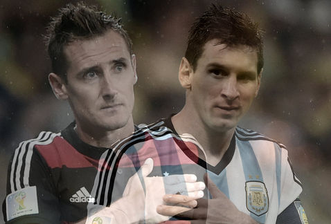 Argentina vs Alemania Brasil 2014 Lionel Messi Miroslav Klose MILIMA20140709 0336 30