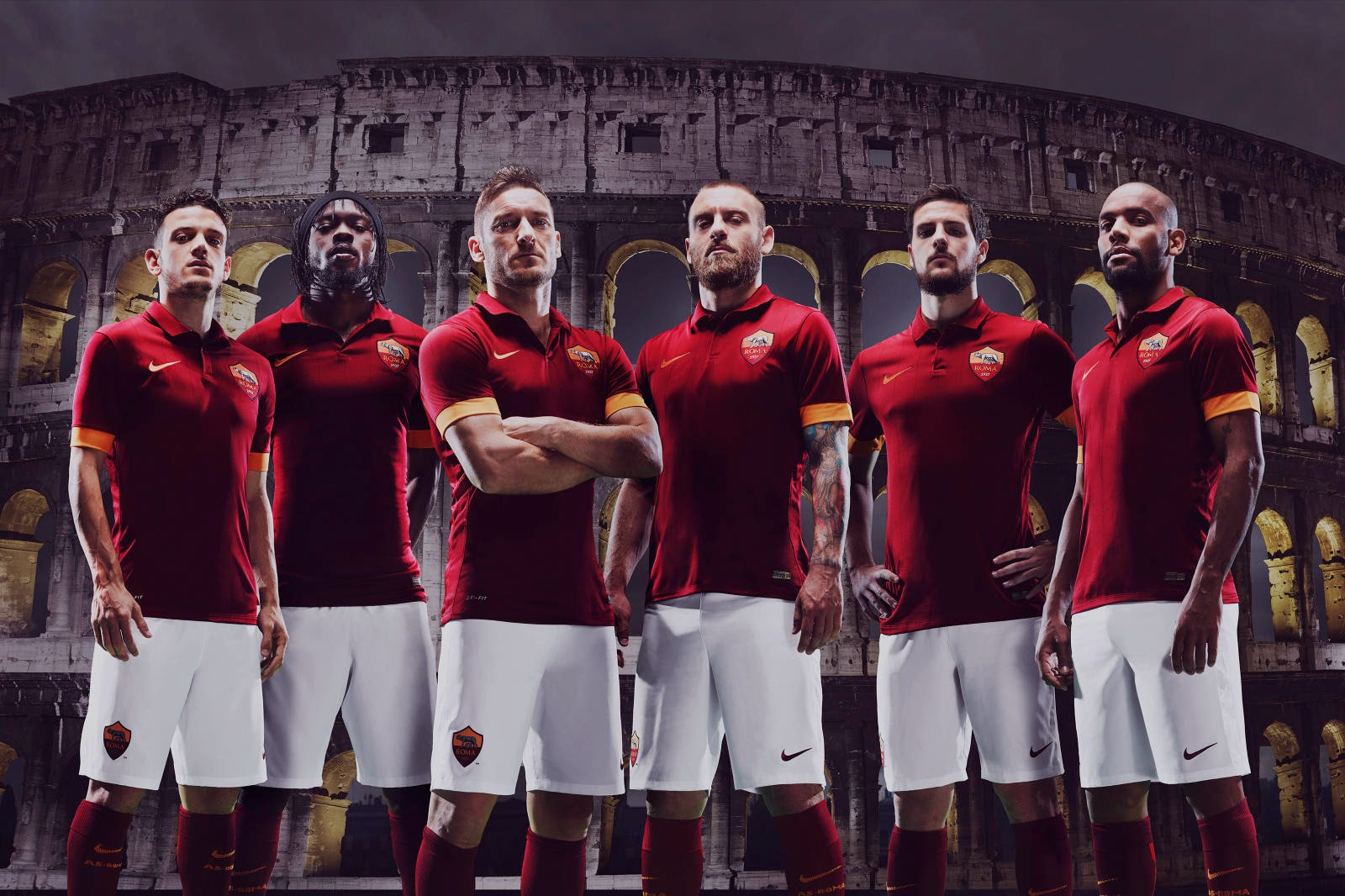 Camiseta Titular AS Roma 2014 15