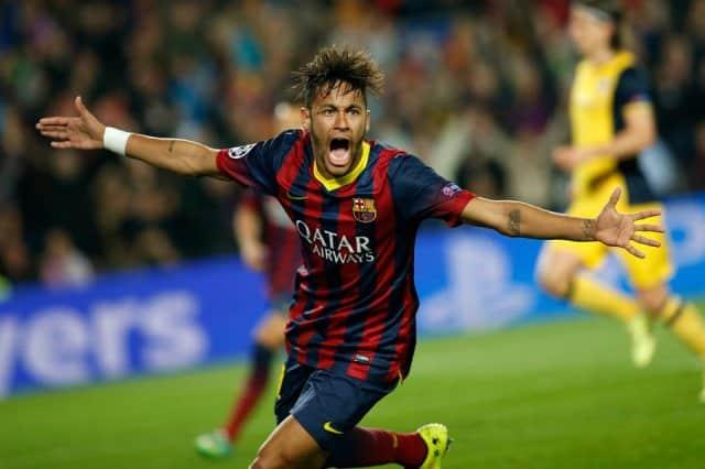 barc3a7a 1 1 atletico madrid neymar celebrates goal champions league quarter final 20141