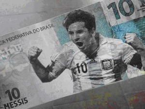 Billete con la figura de Messi / Agencias