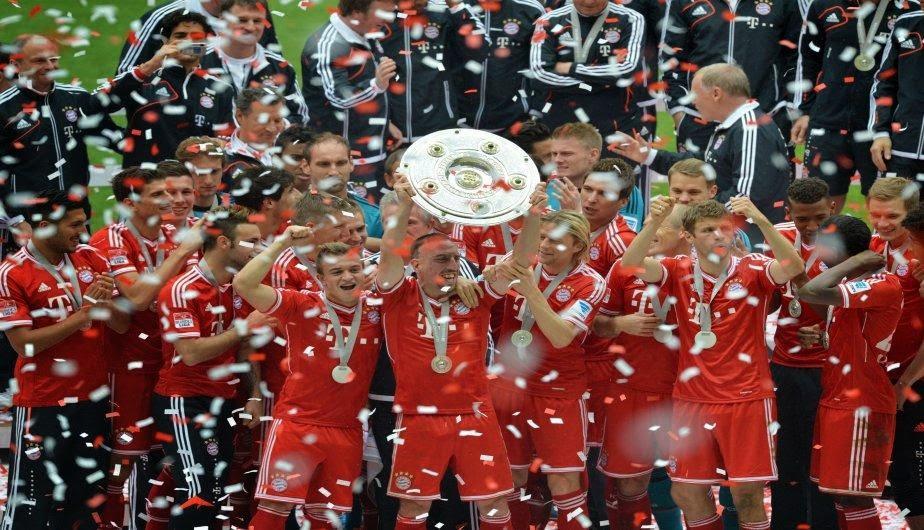 Bayern celebrando el título de liga / Agencias