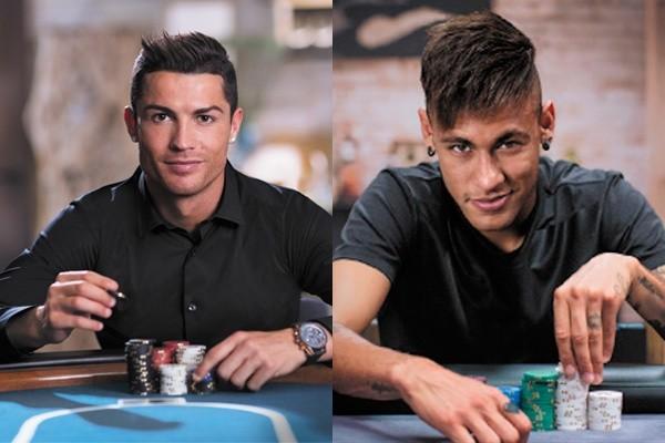 Cristiano Ronalo y Neymar Jr han protagonizado varias campañas en Twitter para PokerStars