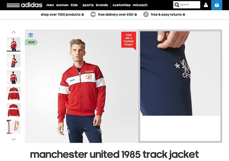 chaqueta manchester united
