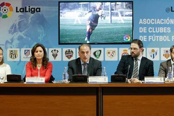 LaLiga pretende potenciar la inversión de patrocinadores en el fútbol femenino. Fuente: LaLiga
