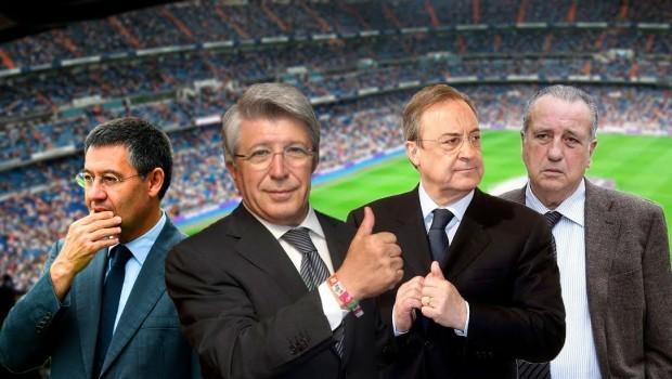 Las profesiones de los presidentes de los equipos de la Liga