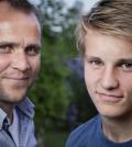 Odegaard y su padre / Agencias