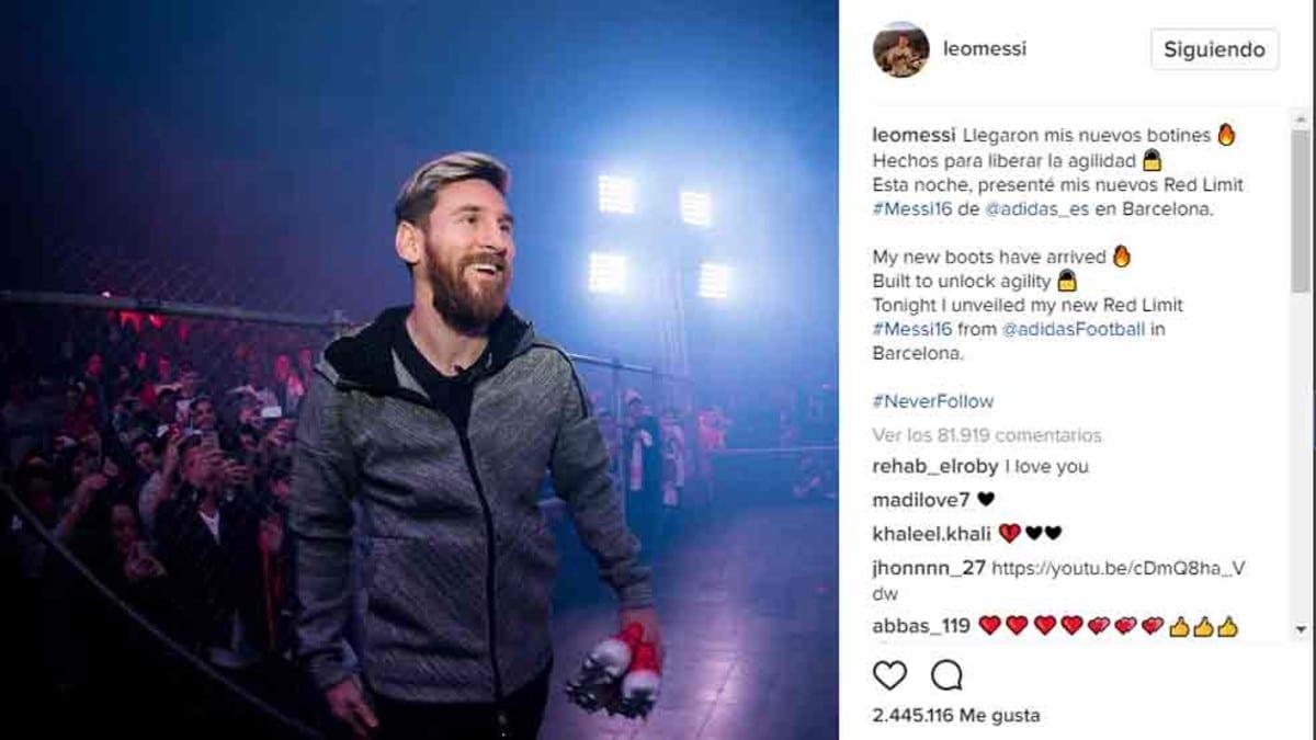 Messi se forra con los patrocinios de Instagram